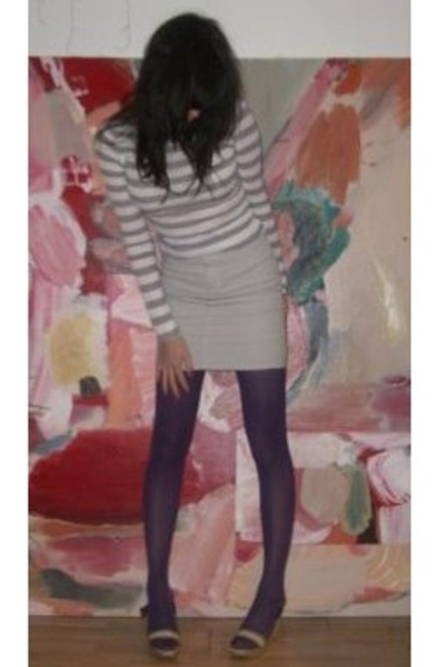 Sparkle and Fade top - American Apparel skirt - Topshop tights - Nine West shoes