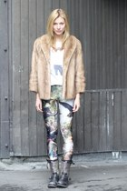 vintage jacket - ash shoes boots - Black Milk Clothing leggings
