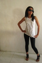 blouse - leggings - shoes - glasses