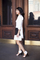 banana republic top - Lovers  Friends dress - Chanel bag - Zara shorts