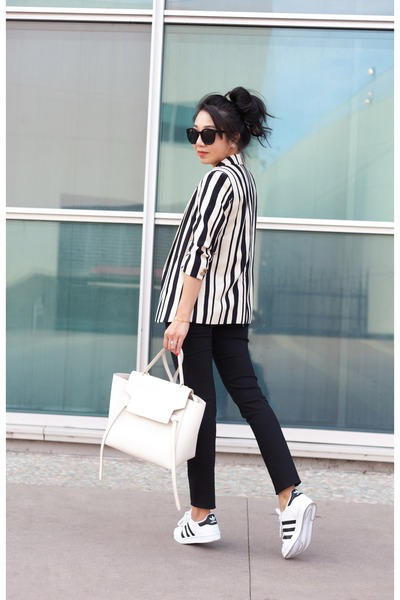 River Island blazer - Celine bag - Karen Walker sunglasses - Who What Wear pants