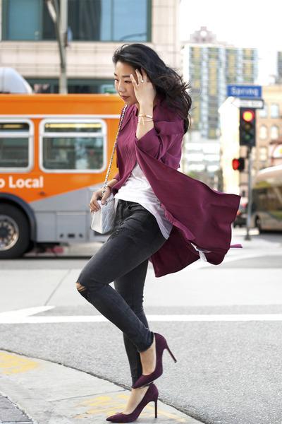 trench coat Zara coat - Express jeans - JCrew t-shirt