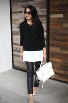 GoodNight Macaroon sweater - Celine bag - Valentino heels - shein pants