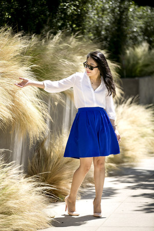 Leith skirt - Christian Louboutin heels - H&M top - Cartier bracelet