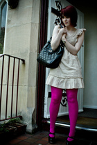 Miss Selfridge dress - Topshop purse - We Love Colors tights - Topshop shoes