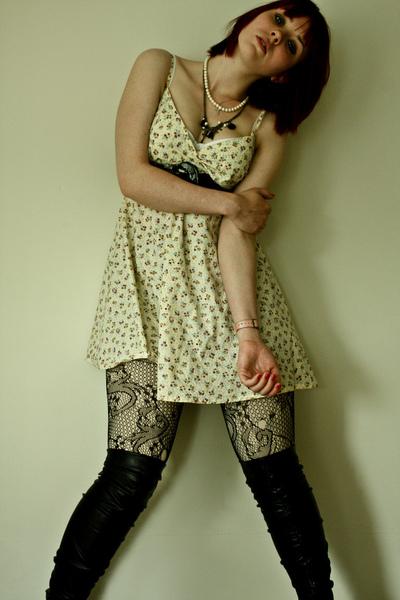 yellow tk maxx TK Maxx dress - black topshop Topshop boots