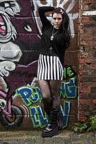beetlejuice Black Milk skirt - rocker Sella boots - Wolford tights