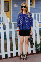 polka dot Marni at H&M jacket - lace-up Prabal Gurung for Target heels