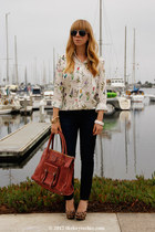 Chloe bag - 7 for all mankind jeans - Mossimo heels - Zara blouse