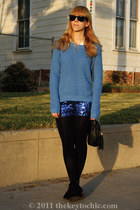 200 den H&M tights - jamison Dolce Vita boots - Old Navy sweater