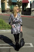 Topshop blazer - forever 21 dress - Zara belt - forever 21 shoes