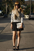 poodle Forever 21 sweater - polka dots cotton on skirt