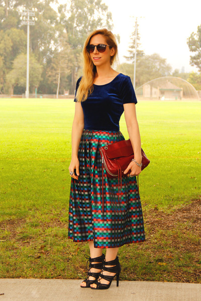 midi vintage skirt - swing bag Rebecca Minkoff bag