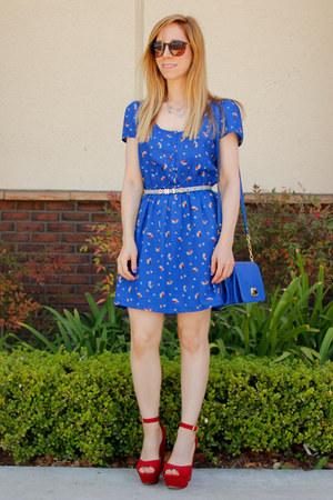 floral xhilaration dress - crossbody merona bag - Fantas-Eyes sunglasses