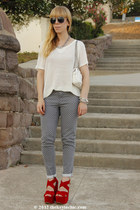 Luichiny heels - xhilaration jeans - rag & bone top