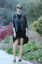 studded biker Forever 21 jacket - Mossimo pumps