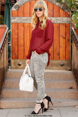 Current Elliott jeans - Zara heels - Bellatrix blouse