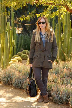 sam edelman boots - J Brand jeans - H&M necklace