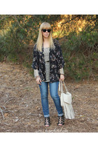 crochet tunic Velvet top - Cheap Monday jeans - maune Aldo wedges