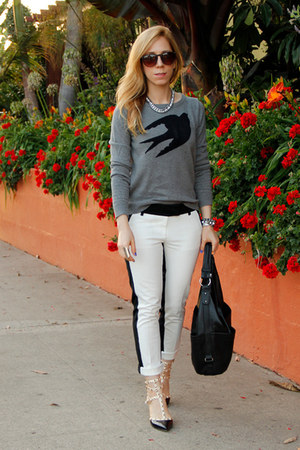 bird print Mossimo sweater - hobo merona bag - Fantas-Eyes sunglasses