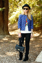 blue dotted Marni at H&M jacket - leopard print Olivia  Joy bag