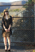 leopard print Kardashian Kollection dress - Steve Madden heels