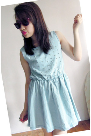 light blue studded denim random from Hong Kong dress