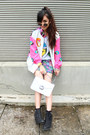 Black-ankle-topshop-boots-hot-pink-jvstify-jacket-periwinkle-cropped-sweater