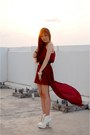 Cream-lace-up-juice-string-boots-maroon-mullet-the-scarlet-room-dress