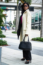 H&M coat - calvin klein bag - The Concrete Runway blouse
