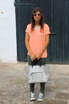 H&M bag - asos sunglasses - H&M t-shirt - Primark necklace - Converse sneakers