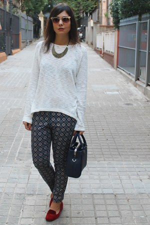 Zara bag - asos sunglasses - Promod jumper