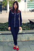 green coast shirt - Zara jeans - Bershka bag - Zara flats