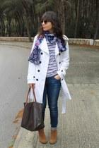 Zara coat - Primark boots - Zara jeans - suiteblanco scarf - Mango bag