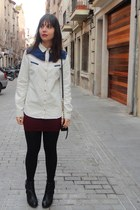 Zara shirt - Mustang boots - Primark bag - Primark skirt