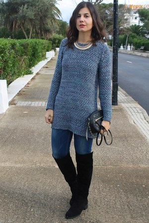 Promod jumper - Zara boots - Stradivarius necklace