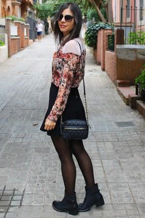 Bershka shirt - Bershka skirt
