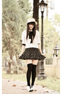 Black-polka-dots-ahaishopping-skirt-white-bow-mart-of-china-boots