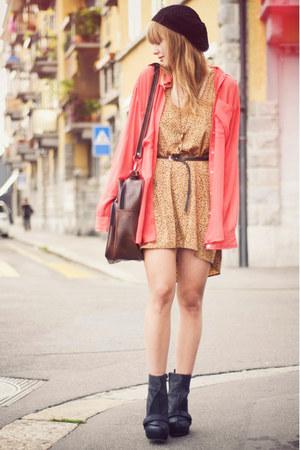 HereJ dress - H&M hat - vintage bag - American Apparel blouse - Senso wedges