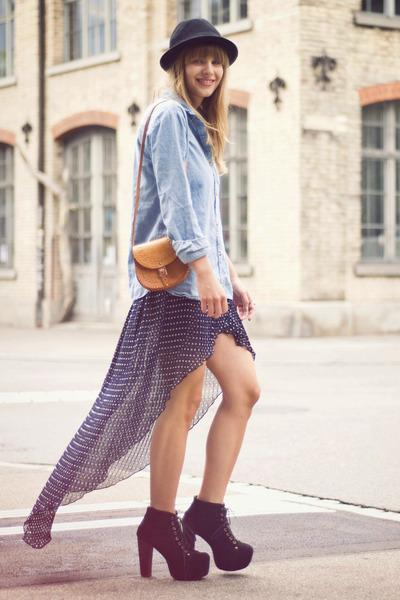 vintage bag - H&M hat - Urban Outfitters shirt - lita Jeffrey Campbell heels