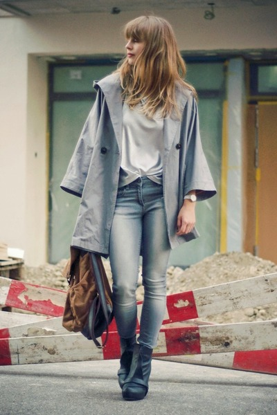 Senso wedges - asos jeans - Topshop jacket - Urban Outfitters bag