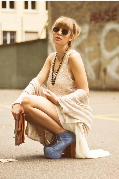 Mango top - vintage bag - denim litas Jeffrey Campbell heels - Mango necklace