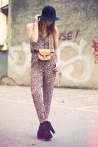 Zara jumper - H&M hat - vintage bag - litas Jeffrey Campbell heels