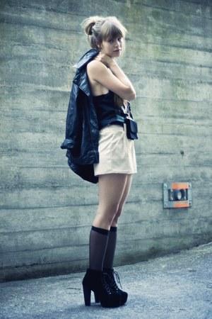 litas Jeffrey Campbell heels - Zara jacket - Wholesale-Dress shorts - H&M socks