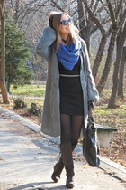 pashmina scarf - Zara bag - prescription glasses glasses - Terranova gloves