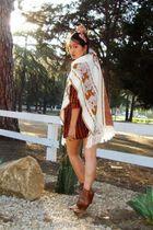 Vintage Antler Knit Poncho