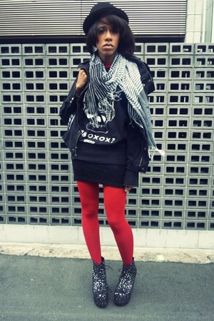 star design Jeffrey Campbell boots - BB Dakota jacket - GLAD NEWS sweater