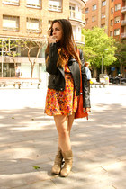 orange flowers BLANCO dress