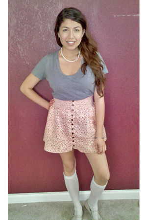 gray Target - pink Forever 21 skirt - white Urban Outfitters socks - pink Urban