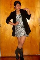 Heritage 1981 blazer - H&M dress - GoJane boots